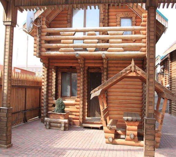 Деревянный домик на море в п. Прибрежное (Саки)